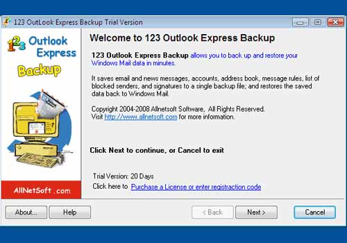 123 Outlook Express Backup