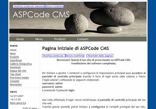 ASPCode CMS