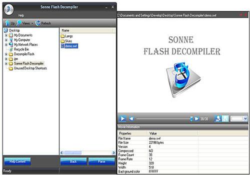 Sonne Flash Decompiler