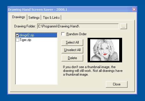 Drawing Hand Screen Saver