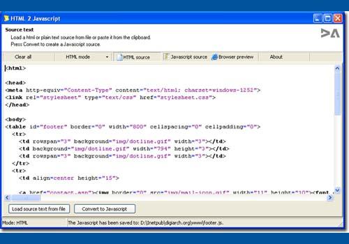 Html2JavaScript