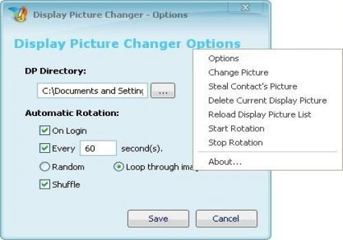 Display Picture Changer