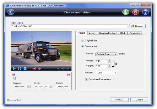 ConvexSoft Video to FLV SWF GIF Converter