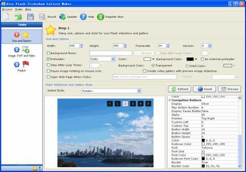 Aleo Flash Slideshow Gallery Maker