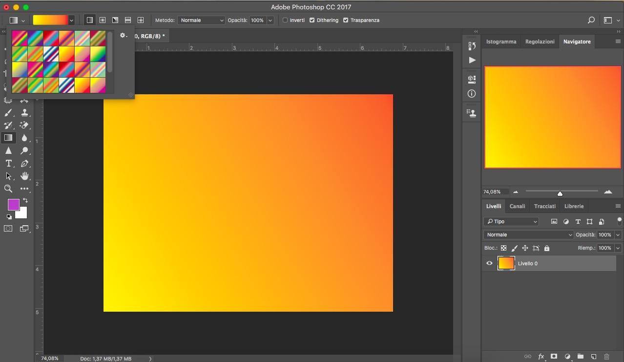 Gomma e riempimento photoshop essenziali grafica html.it
