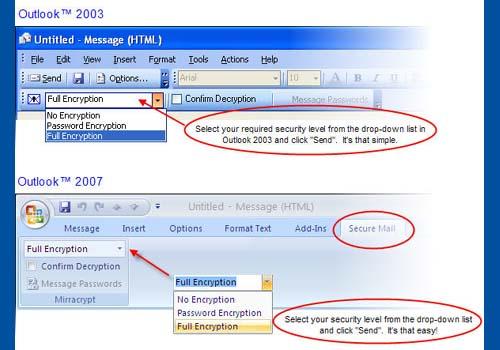 Mirracrypt – Encryption for Outlook
