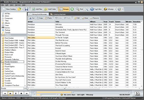Audio Catalog