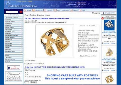 Fortune3 E-Commerce Shopping Cart Wizard