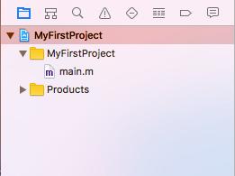 Project Navigator e file main.m