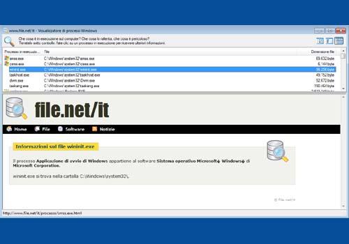 Visualizzatore di Processi Windows