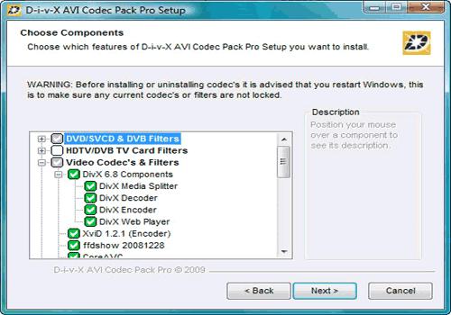 AVI Codec Pack