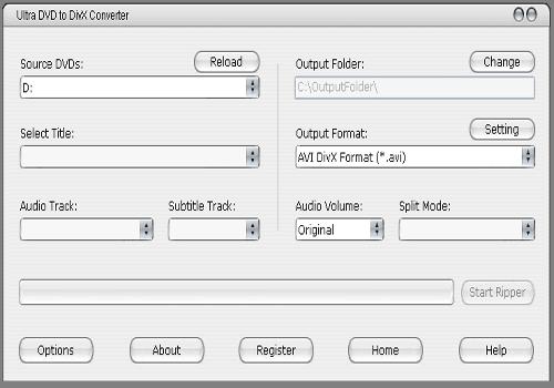 Ultra DVD to DivX Converter