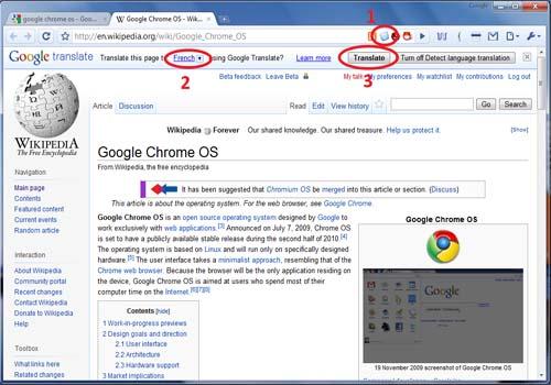 Google Translation Bar