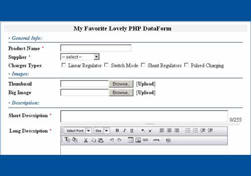 PHP DataForm