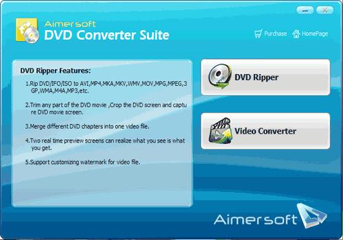 Aimersoft DVD Converter Suite
