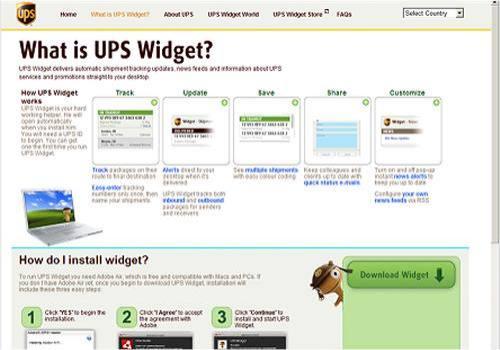 UPS Widget