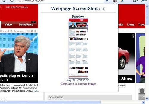 Instantanea pagina – Webpage Screenshot