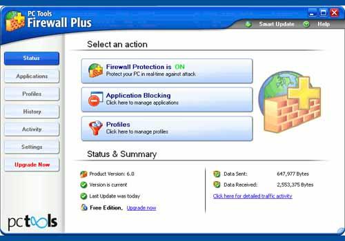 PC Tools Firewall Plus Free Edition