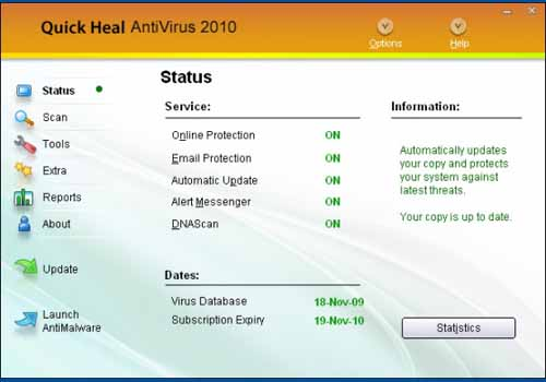 Quick Heal AntiVirus Plus 2010