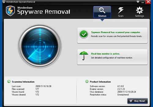 Wondershare Spyware Removal