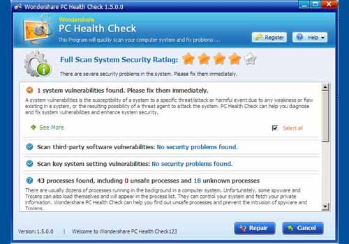 Wondershare PC Health Check