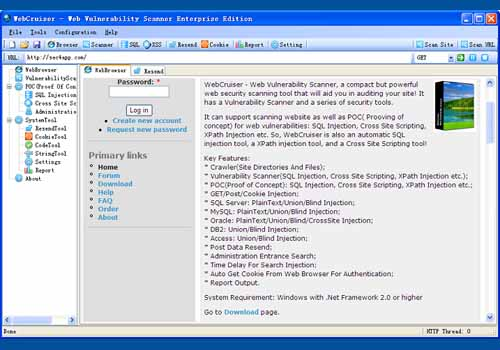 WebCruiser Web Vulnerability Scanner