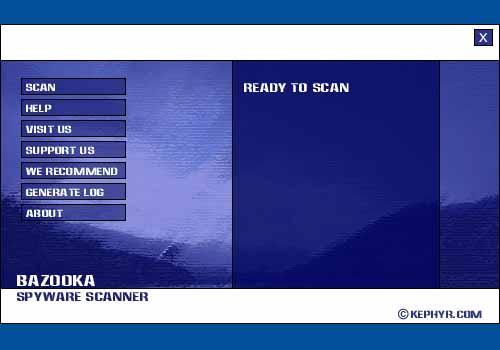 Bazooka Adware and Spyware Scanner