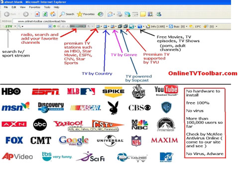 Online TV Toolbar