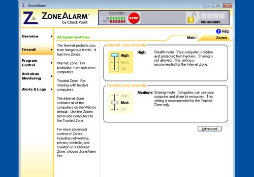 ZoneAlarm Firewall Free