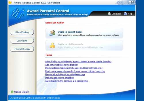 Award Parental Control