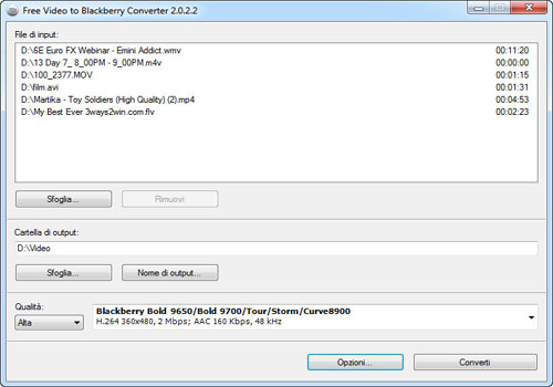 Free Video to Blackberry Converter