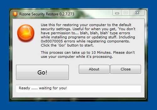 Security Restore