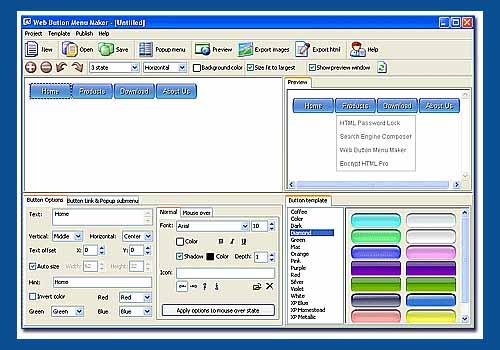Web Button Menu Maker