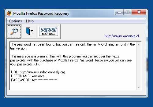 Mozilla Firefox Password Recovery