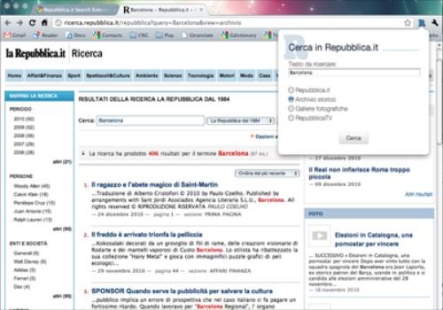 Repubblica.it Search for Google Chrome