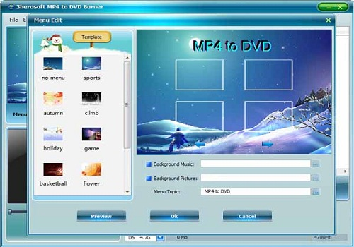 3herosoft MP4 to DVD Burner