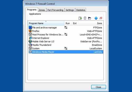 Windows 7 Firewall Control