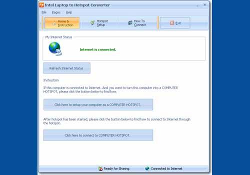 Intel Laptop to Hotspot Converter