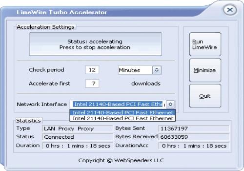 LimeWire Turbo Accelerator