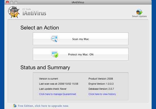 iAntiVirus Free Edition