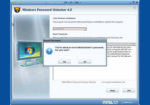 Windows Password Unlocker