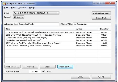 Magic Audio CD Burner