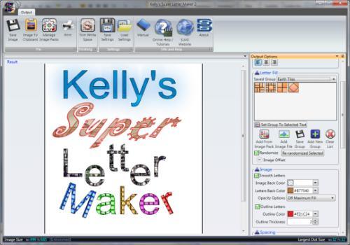 Kelly Super Letter Maker