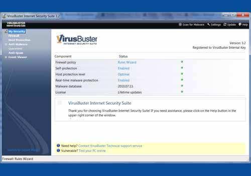 VirusBuster Internet Security Suite