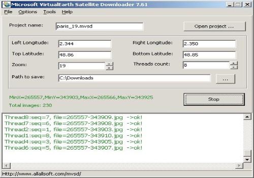 Microsoft VirtualEarth Satellite Downloader