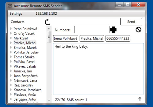 Awesome Remote SMS Sender