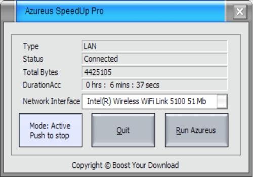 Azureus SpeedUp Pro