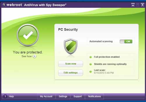 Webroot AntiVirus with Spy Sweeper 2011