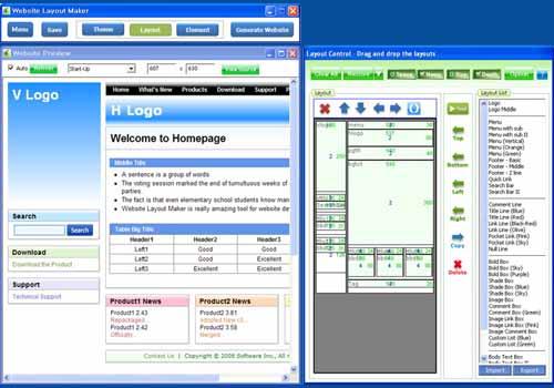 Website Layout Maker