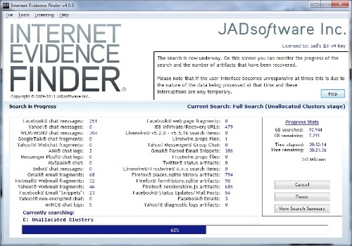 Internet Evidence Finder Standard Edition